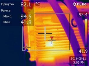 фото диагностика электрического оборудования - вид с тепловизора (Украина, АСМАРТ ООО)
