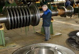 фото балансировка роторного оборудования в процессе