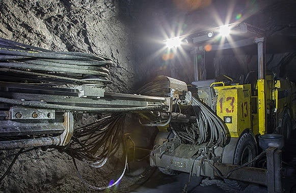 фотография работа горной машины АСМАРТ диагностика