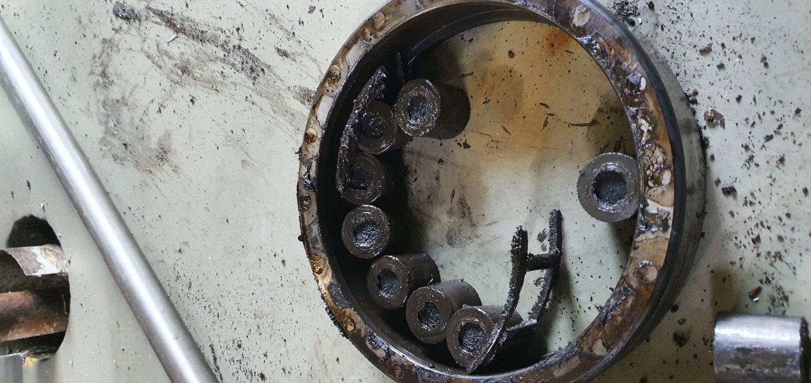 Выход из строя подшипника на двигателе 500 кВт