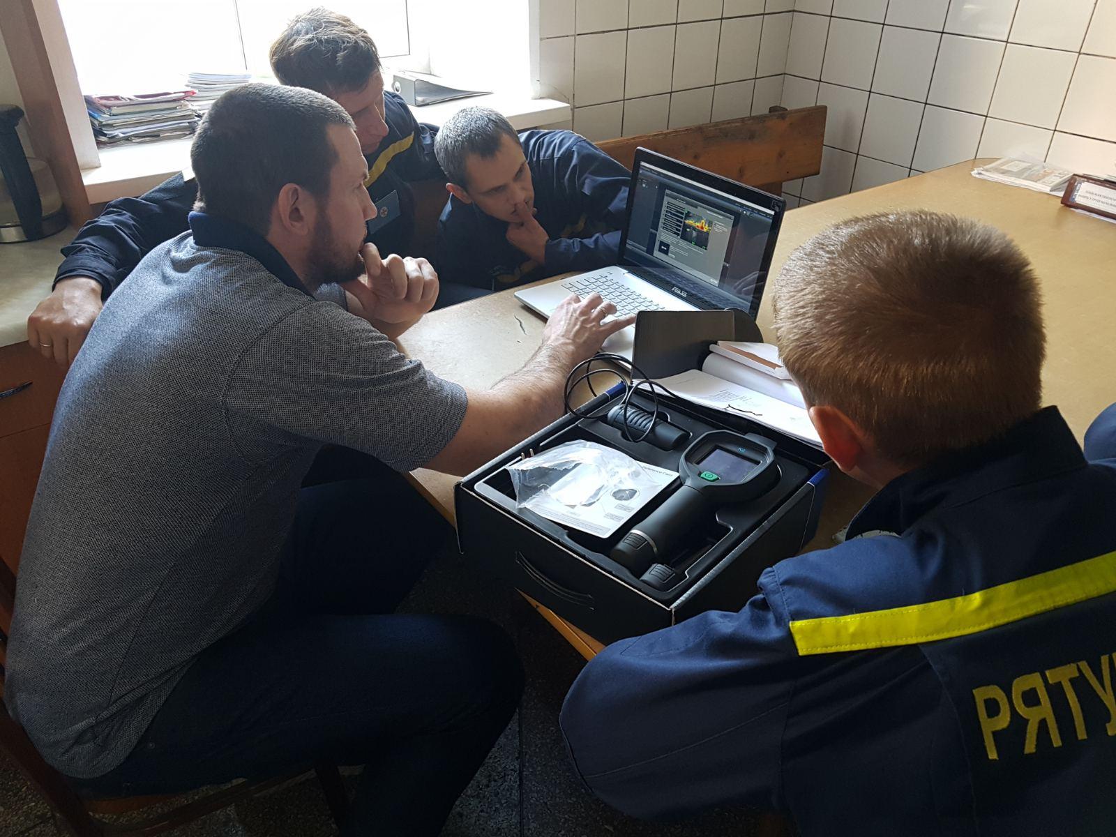 Взаимодействие со спасателями Каховки